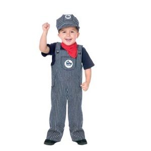 24 Mo 2 Toddler Train Engineer Costume Size Small